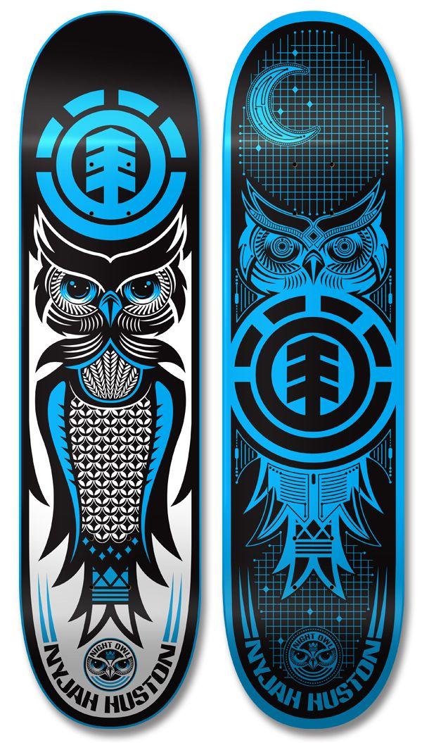 Element skateboards design pinterest behance - Skateboard dessin ...