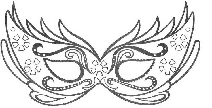 Mask Coloring Sheet 2017 16843 Mask Coloring Pages