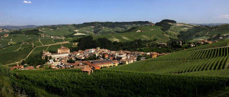 View of Barolo from La Morra