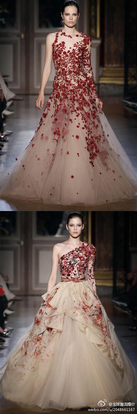 floral embroidered wedding dress - Wedding Decor Ideas