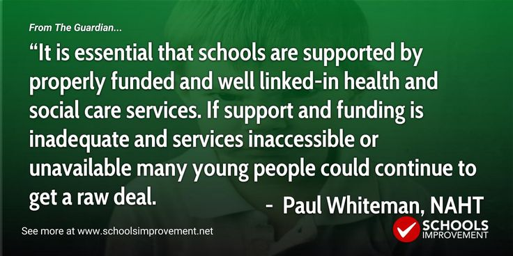 """The Guardian reports that more than half of primary school teachers say they do not feel adequately trained in supporting pupils with mental health problems, research suggests. Just one in 10 """"strongly agreed"""" with the statement that they felt they had the necessary training to feel confident about what action to take when a child was experiencing a mental health problem, compared with 54% who disagreed. About four in 10 who took part in the YouGov poll said they were not confident they knew…"""
