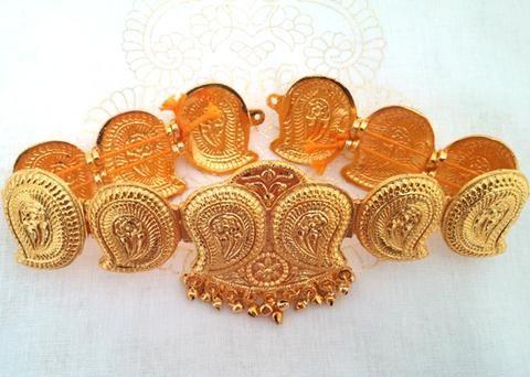 Mango Gold Belt for Bharatanatyam Dance To order Whatsapp +919849713635