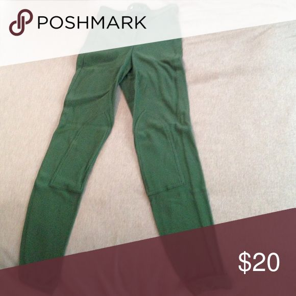American Apparel Riding Pant in Forest Green American Apparel riding pant in forest green. Super comfy and chic high waisted style. Great condition. Size large but they run small. American Apparel Pants