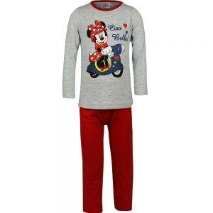 Disney klinderpyjama van CorazonKids Minnie Mouse Ciao Bella grijs. Dit is een kinderpyjama met een rode broek voor de koude winter dagen. De trui heeft een ronde halslijn, lange mouwen en een grote print opdruk van Minnie mouse. De Disney klinderpyjama van CorazonKids Minnie Mouse Ciao Bella grijs heeft een rode lange broek die is voorzien van een elastische tailleband.