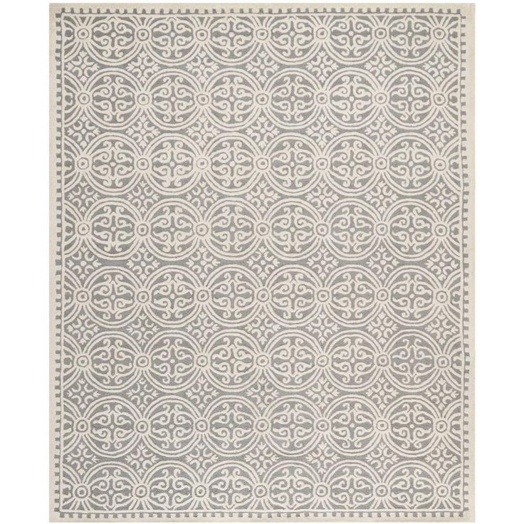 Safavieh Cambridge Silver Ivory 6 Ft X 9 Area Rug