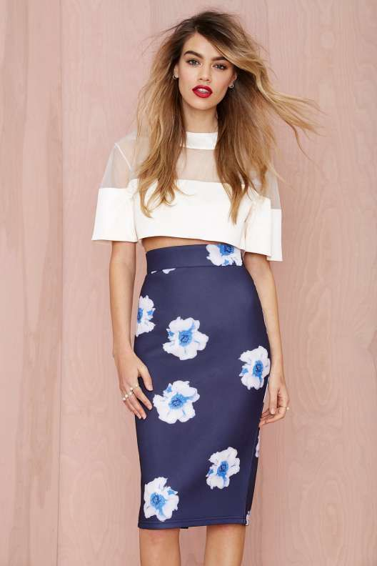Instant Karma Neoprene Midi Skirt - What's New