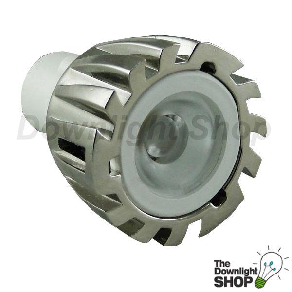 White 6400K High power MR11 LED lamp 1 x 2W 12V DC