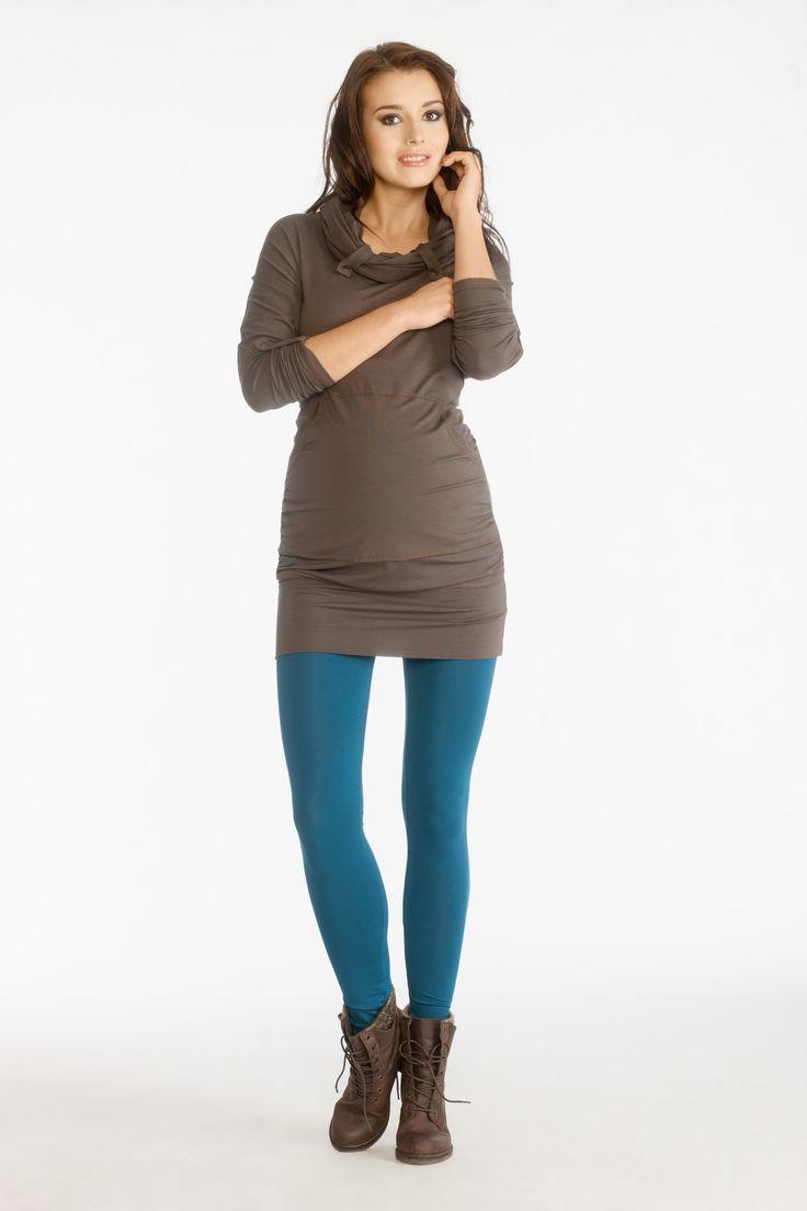 Amares blouse brown & Sava II leggings marine