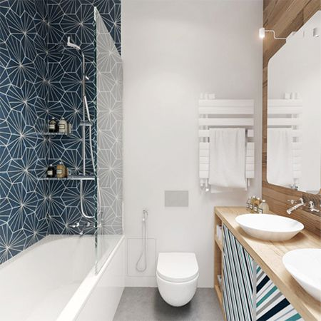 how to make small apartment flat townhouse house seem appear larger add shower panel to bath