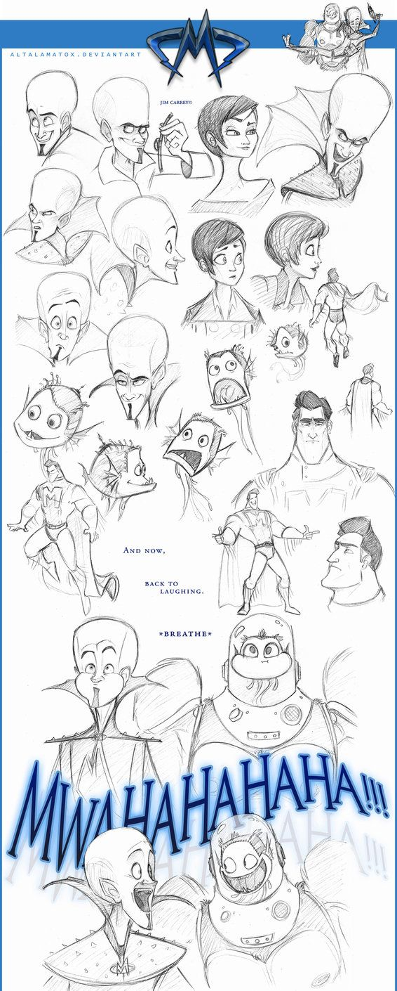 Megamind Doodles II by Altalamatox