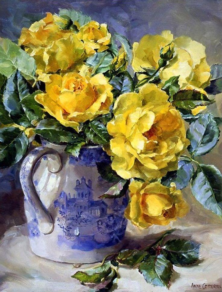 говорят, желтые цветы в картинах художников пошаговым фото