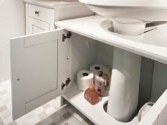 Balcão para Pia de Banheiro Baden - Branco Laqueado