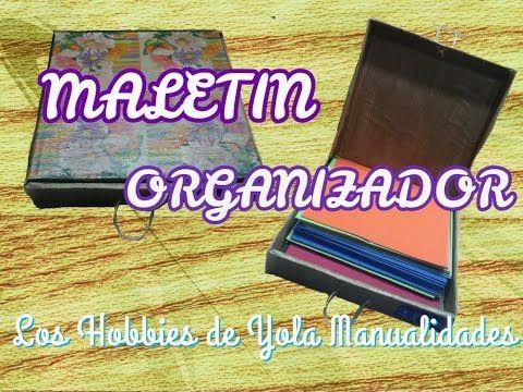 Maletin organizador. Los Hobbies de Yola ✂📌🌹