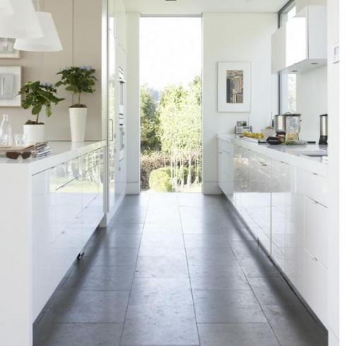 white gloss for small kitchens