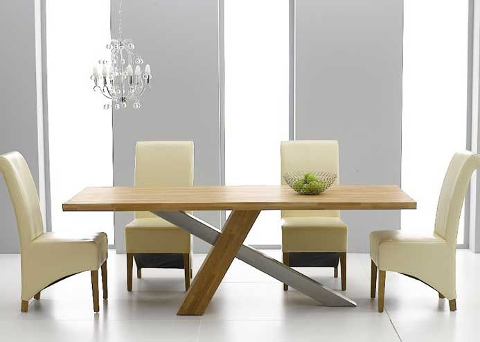 Superb DISCOUNT Chateau 195cm Solid Oak And Metal Dining Table With Kentucky Chairs Design Inspirations