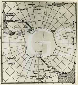 S0026059 - Map of the South Pole