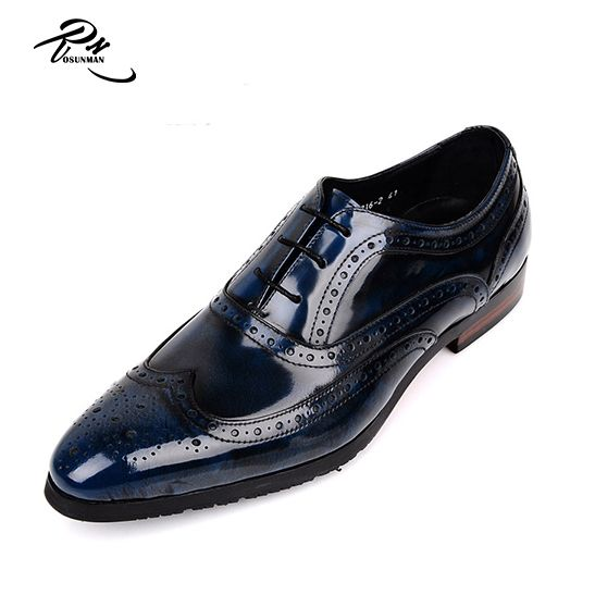 Rl02 Brogue Calf Leather Dress Shoes Men Customized On Genuine