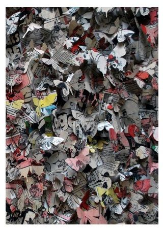 'Butterfly Project' (paper installation) by Rosemary Burden.