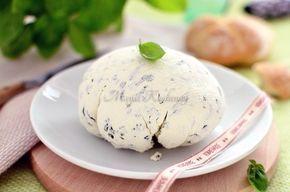 Domowy serek z bazylią (z jogurtu greckiego)
