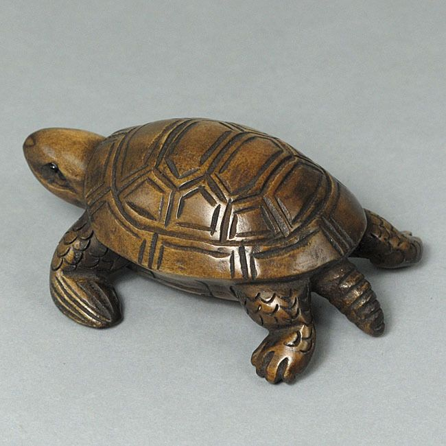 Boxwood wood netsuke quot tortoise carving sale wn