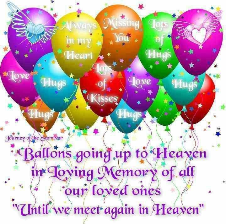 sending balloons to heaven with messages watching till the
