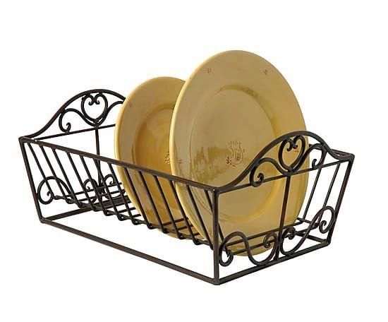 Сушилка для посуды - железо - черный - В13хШ28хД38 см