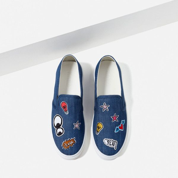 PATCH PLIMSOLLS ❤ liked on Polyvore featuring shoes, sneakers, canvas sneakers, plimsoll sneakers and plimsoll shoes