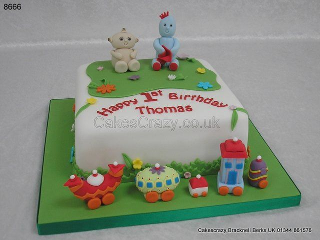 In the night garden themed cake with Iggle Piggle and Makka Pakka along with the ninky nonk train