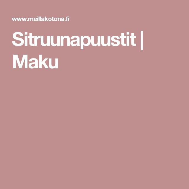 Sitruunapuustit | Maku