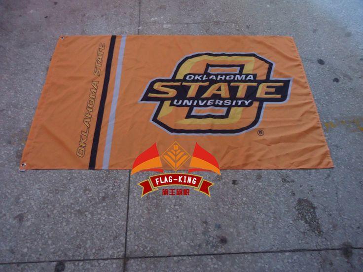 ОК Состояние Доставка НОВЫЙ 90 х 150 см Флаг 100% Полиэстер Штата оклахома баннер, колледж Американский Университет, можем таможня degsin