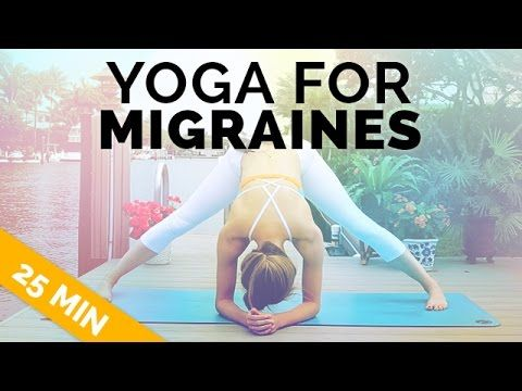 Yoga for Migraine & Headache Relief - Gentle, All Levels Yoga (25 Min) - YouTube
