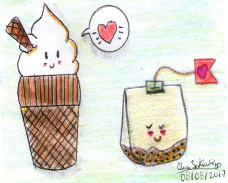 IceCream + Té de Hierbas = Kawaii...