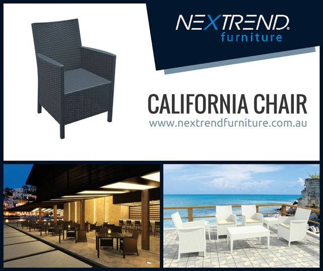 California Chair. #indoor #outdoor #furniture #resinrattan #lounge http://www.nextrendfurniture.com.au/siesta/california-chair
