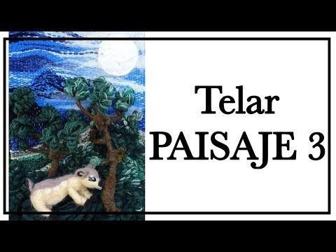 TELAR DECORATIVO Paisaje 3 en Relieve TELAR ÁRBOL  Paso a Paso Wall hanging Wandteppich Lana Wolle - YouTube