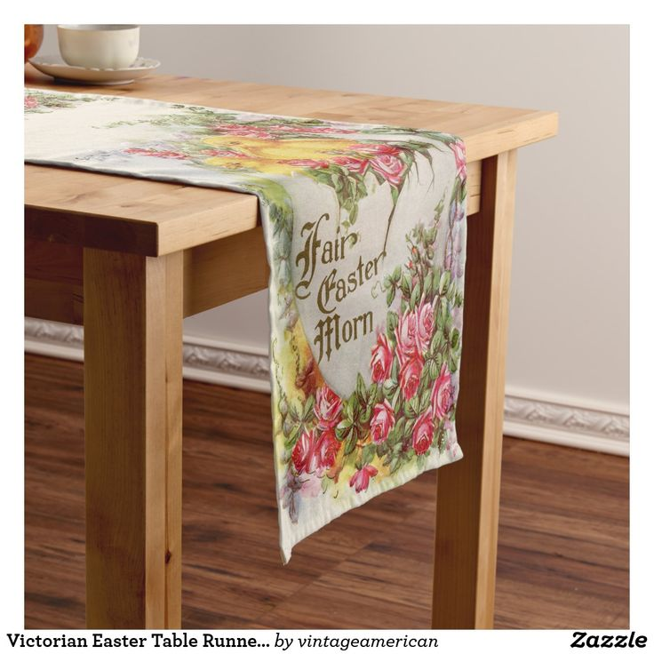 Victorian Easter Table Runner | Chicks and Roses