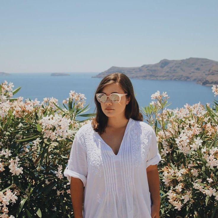 "LEILANI KRIENKE on Instagram: ""Feelin' slick and greece-y ✌🏽️🇬🇷🌸#flashback #greece #grease #flowers #santorini #oia #portrait #visitgreece #travel #honeymoon #exploring"""