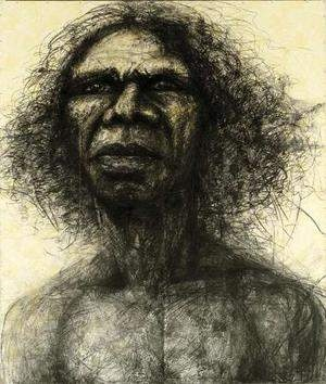 Craig Ruddy portrait of David Gulpilil, this portrait won the Archibald Prize in 2004.