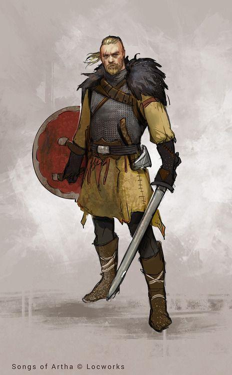 looks a lot like Ragnar Lothbrok fom Vikings  Songs of Artha 2 by monikapalosz.deviantart.com on @deviantART
