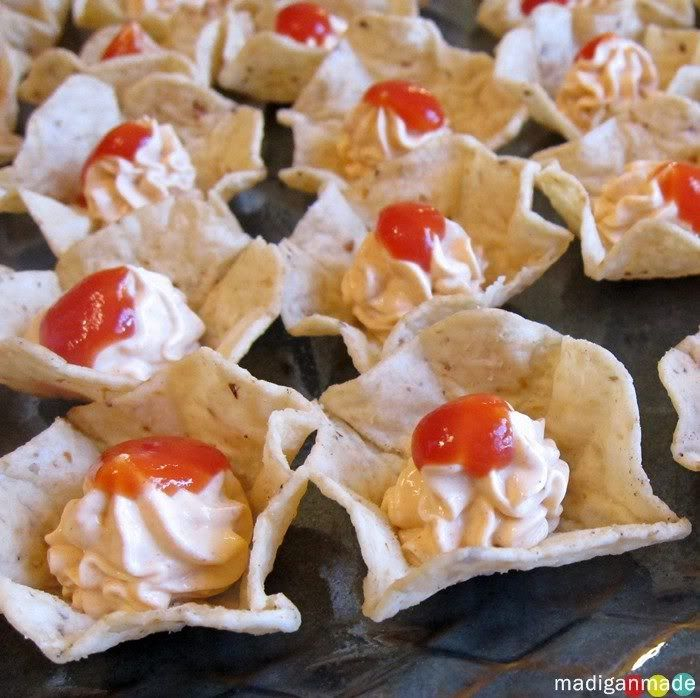 mini taco dip bites