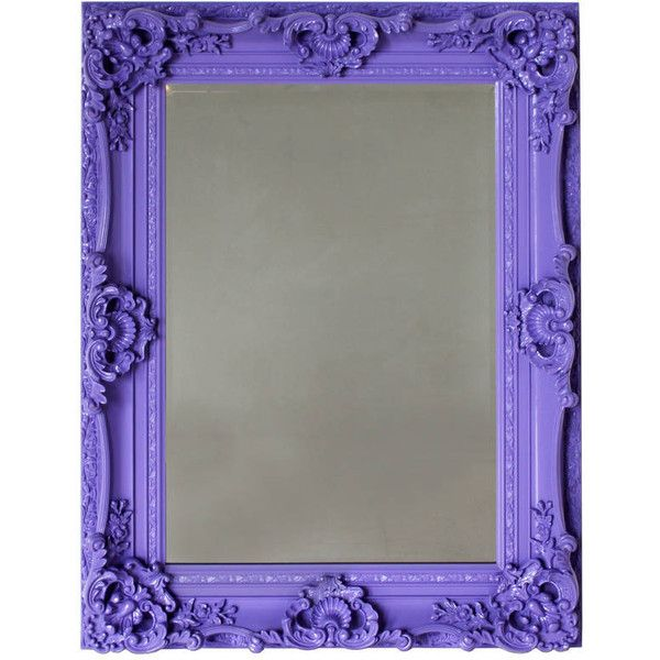 Out There Interiors High Gloss Ornate Wall Mirror In Purple ($890) ❤ liked on Polyvore featuring home, home decor, mirrors, wall mounted mirror, ornate mirror, purple home decor, wall mirrors and interior wall decor