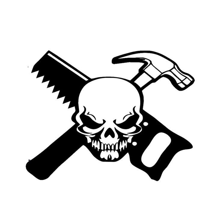 Wholesale 10pcs/lot 20pcs/lot Carpenter Skull Worker Decal