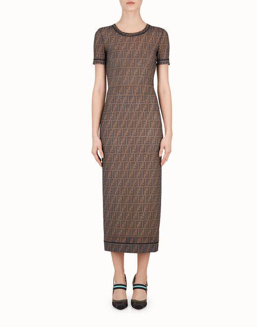 ff7a3e4c2 FENDI DRESS - Multicolor technical mesh dress - view 1 small thumbnail