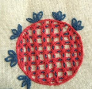Hallandssöm~Swedish embroidery technique.