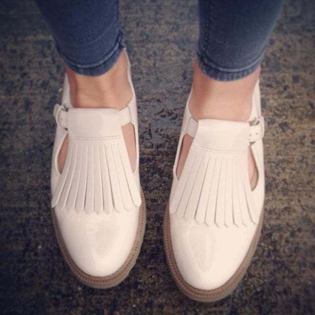 Griffin Mia with detachable fringe. One shoe - 2 styles! #customisable #Clarks. Thanks for the photo @jamiehorner2