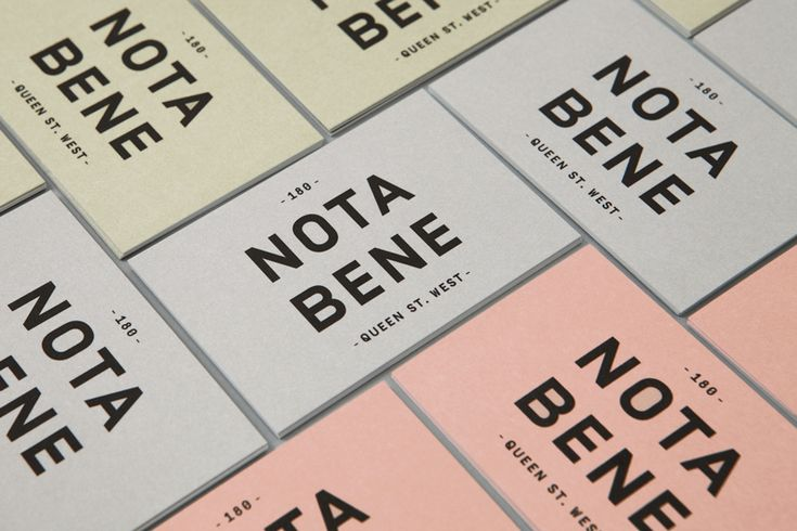 Nota Bene Branding by Blok Design