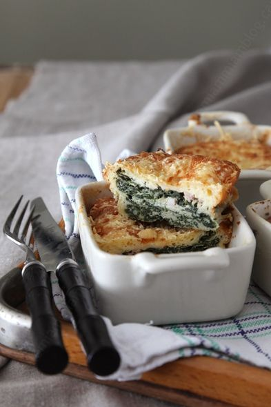 Small blanks spinach and goat cheese ► petit flans aux épinard et au fromage de chèvre ♨ #vegetarian #spinach #goat #cheese #frenchcheese