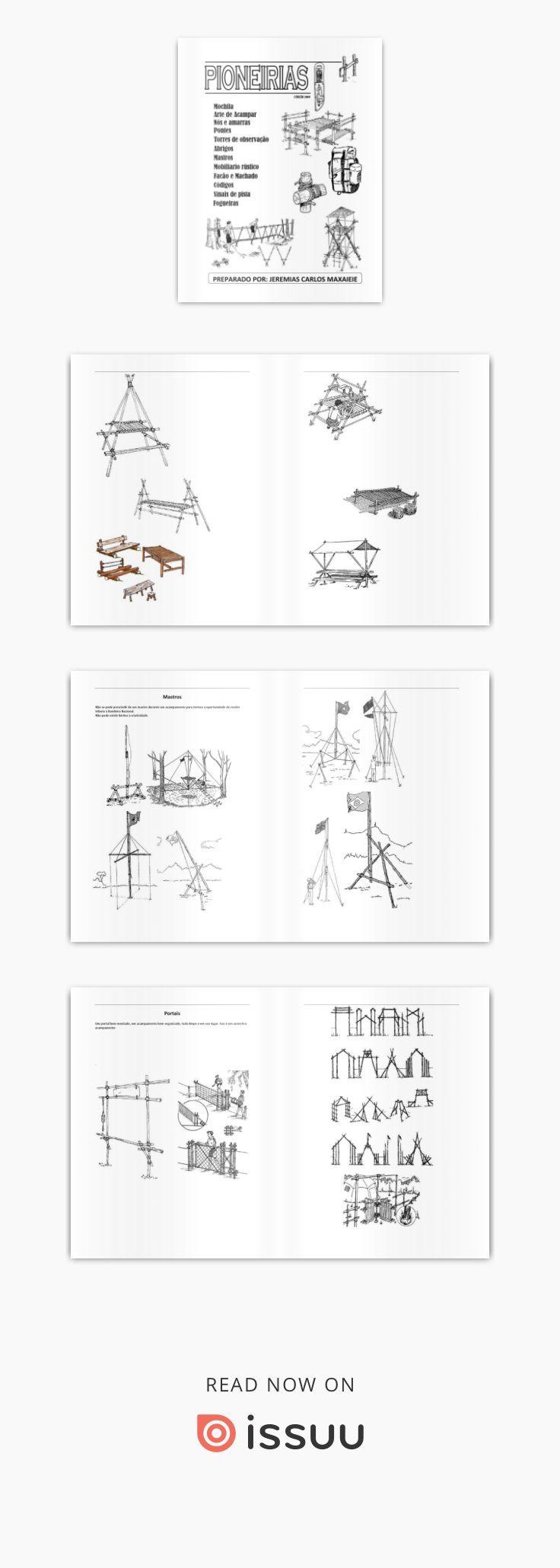 Manual de Pioneirias para desbravadores e escoteiros. Escrito por Jeremias Carlos Maxaieie