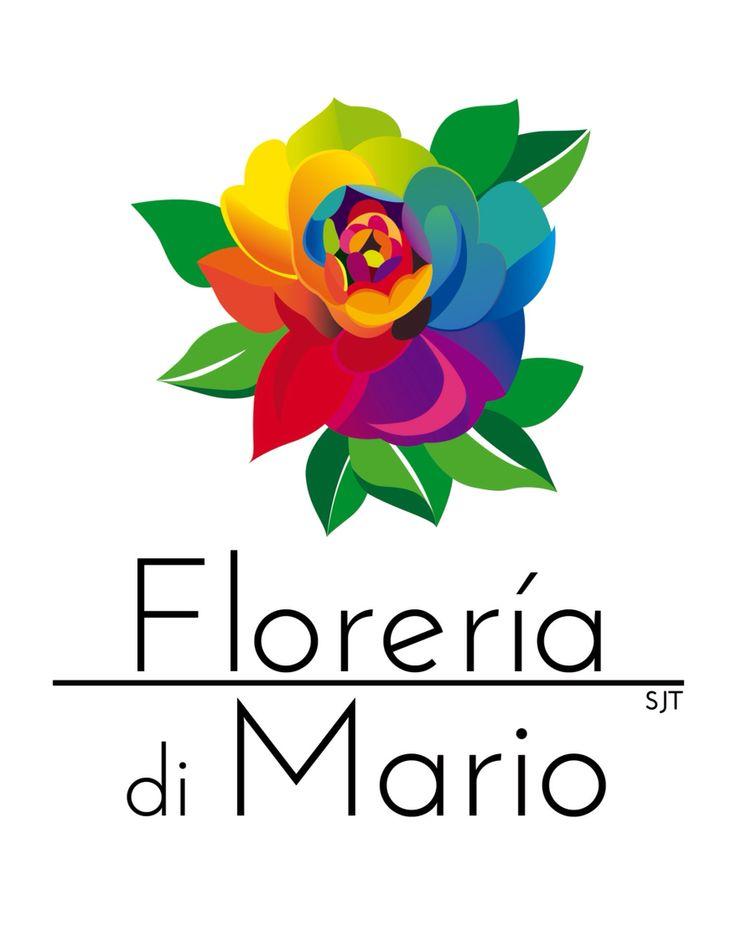 Logo de diseño propio para cliente de florería di Mario