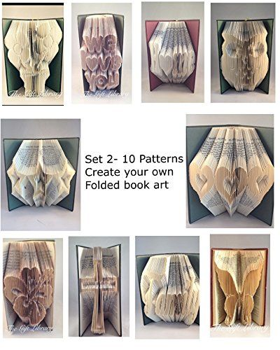 Book Folding Patterns - SET 2 - Create your own Folded Book Art SConway http://www.amazon.co.uk/dp/B011T0XTNE/ref=cm_sw_r_pi_dp_-9MWvb12WF7T6