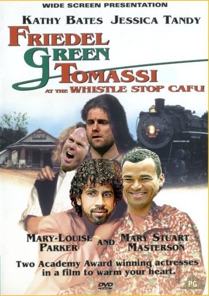 Friedel Green Tomassi at the Whistle Stop Cafu, starring Brad Friedel, Robert Green, Damiano Tomassi and Cafu